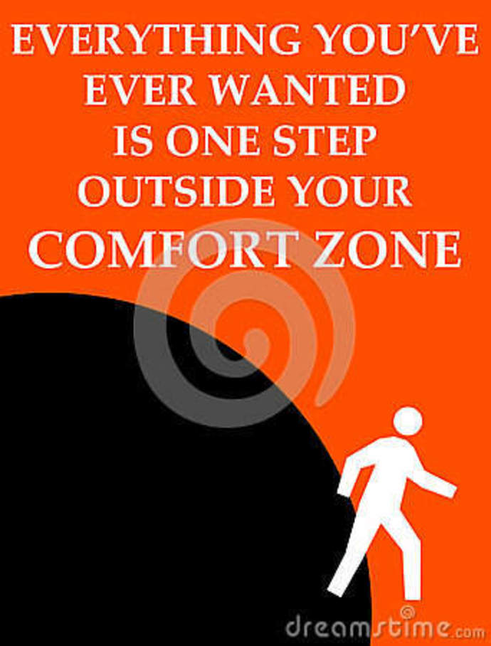 A diagram of the dynamics of the comfort zone