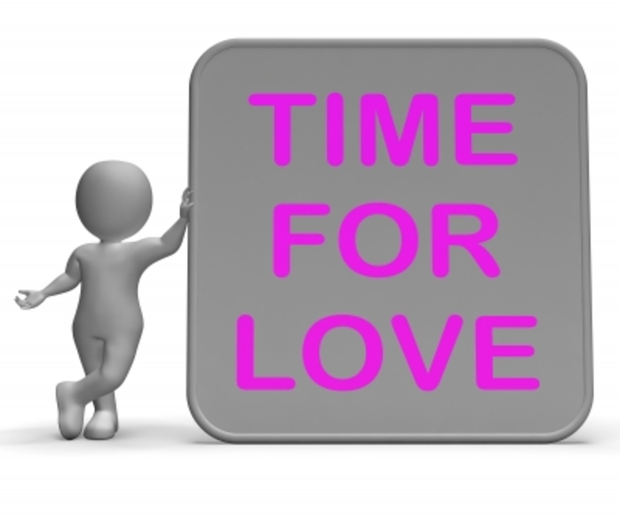 A time for love sign