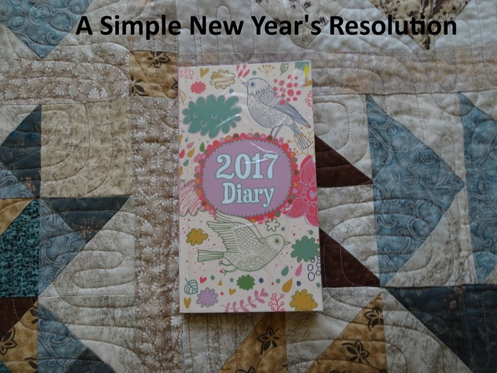 A simple new year's resolution