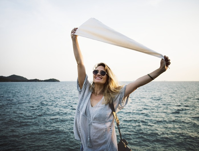 A Woman On A Rejuvenation Vacation