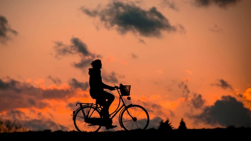 bicycle and sunset