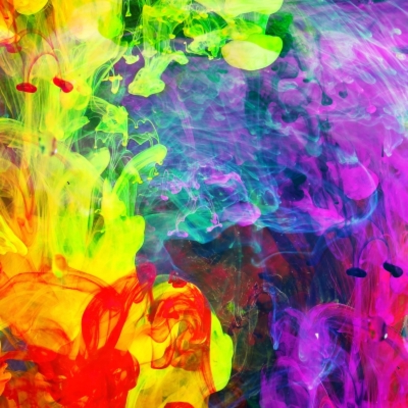 Bright abstract painting set your creative side free for Creative abstract painting