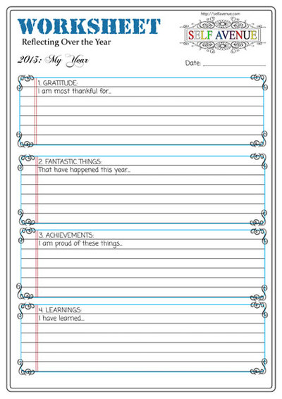 Your Year Worksheet - Self Avenue