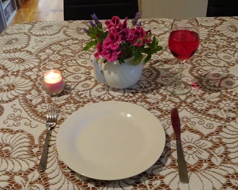 Dinner setting for one