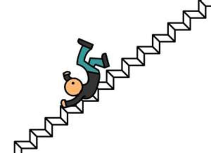 Falling from the stairs- Image from http://www.ct.gov/opapd/lib/opapd/falling_on_stairs.jpg