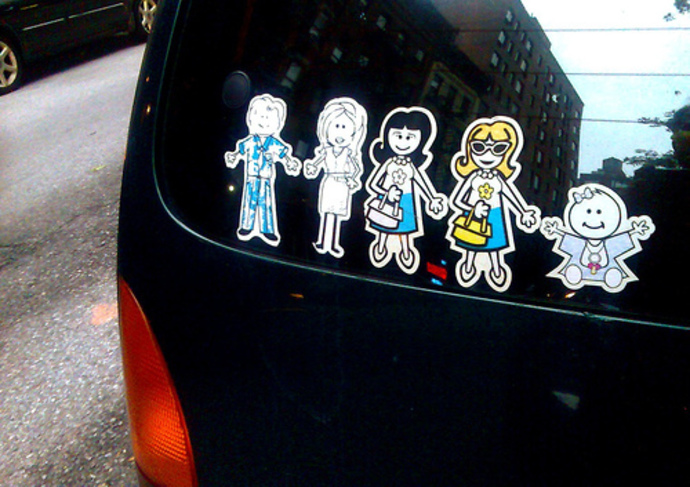 family, sticker, car, label, love