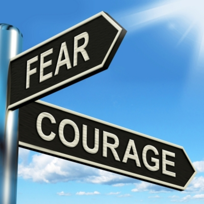 Fear Courage Road Signs