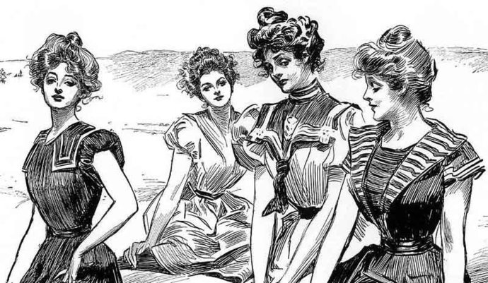 gibson girls, girls, women, female, beauty, stereotype