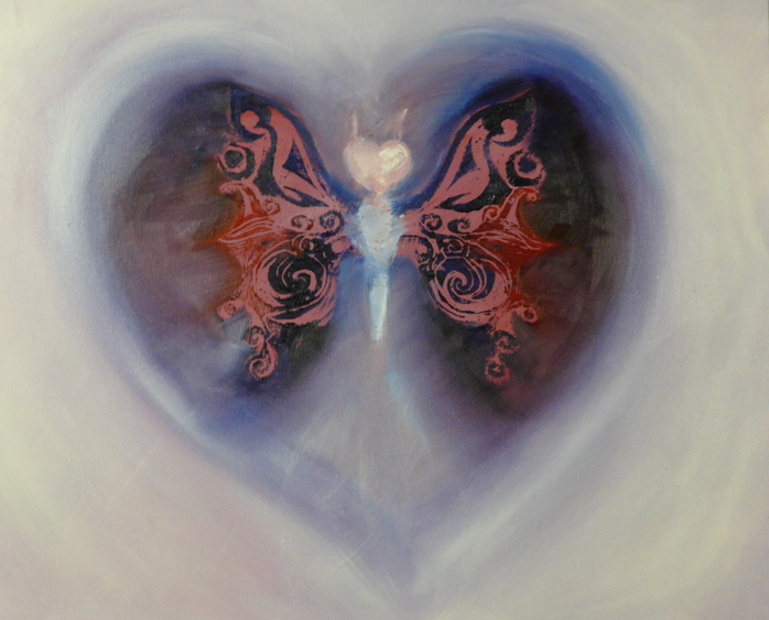 Healing Art Butterfly Heart by Selina Shapland
