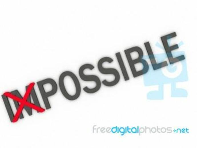 Impossible with Im crossed out