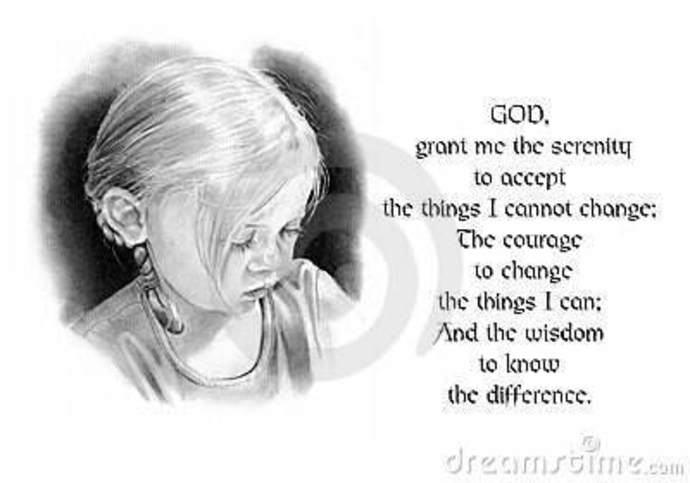 Little girl and the Serenity Prayer