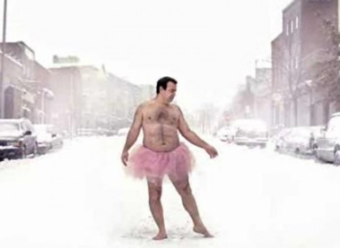 Man in a pink tutu - Compliments of Google