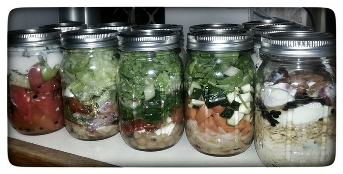 Mason Jar, Salad-in-a-jar,