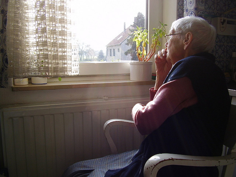 Chair woman relaxing in front of the tv television the time