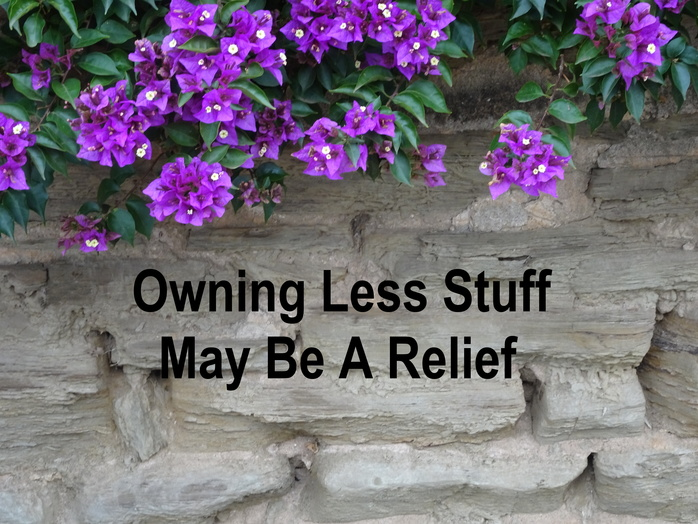 Owning less stuff may be a relief