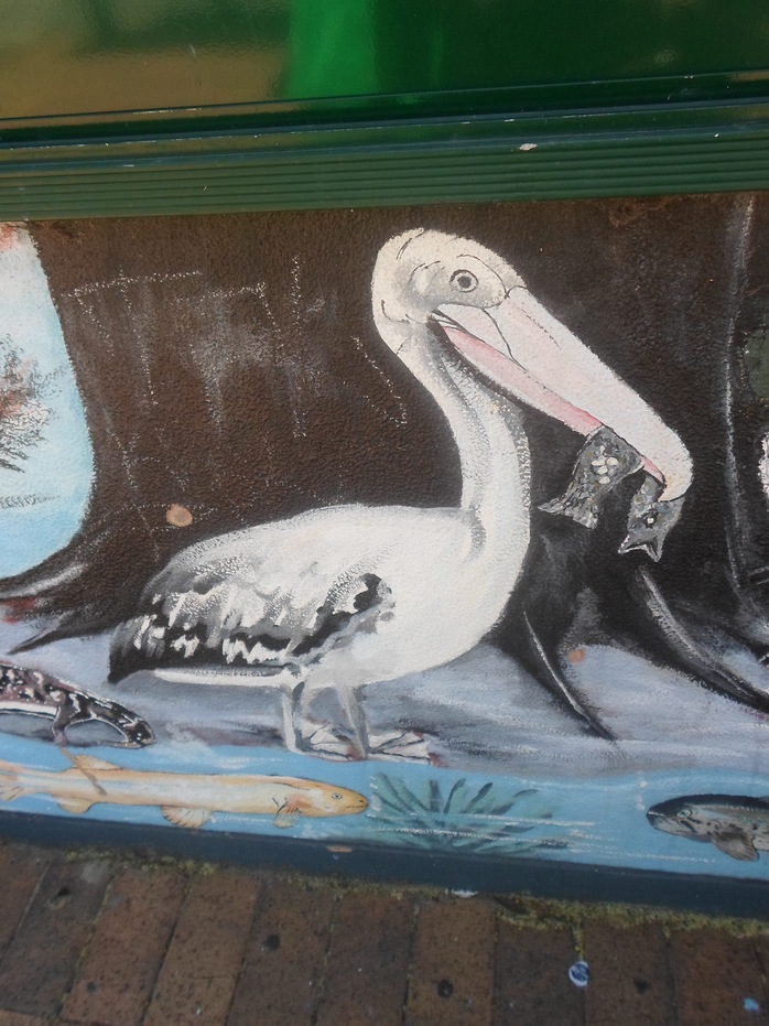 Painting of pelican
