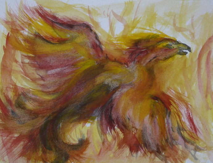 Pheonix Rising - Watercolour