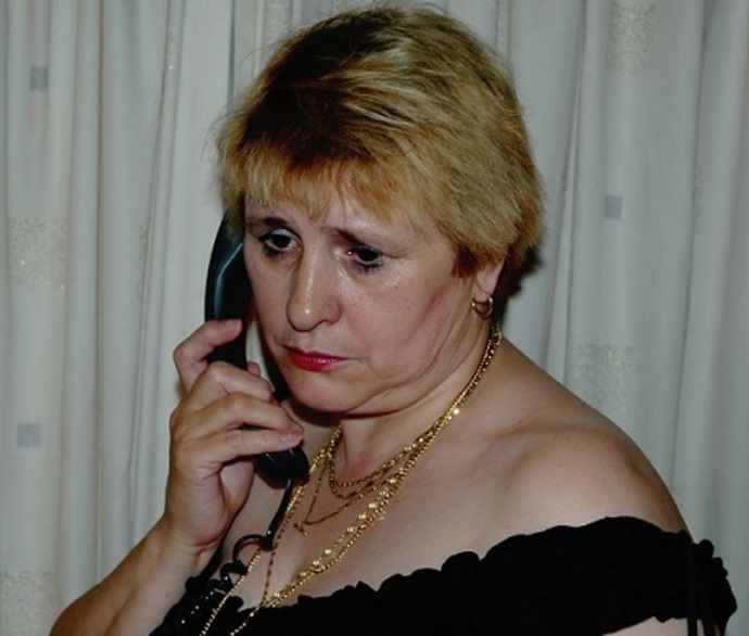 Sad Woman on Phone