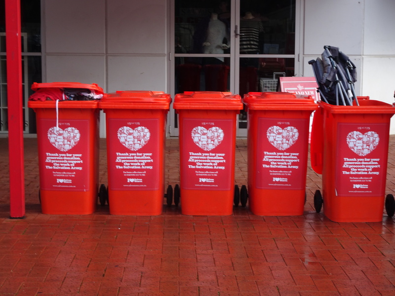 Salvation Army Collection Bins