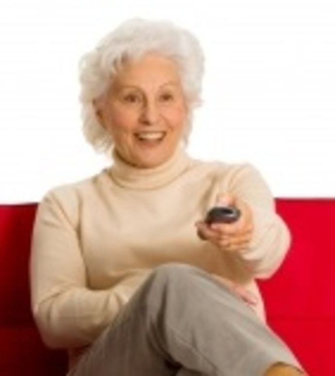 Senior Woman with Remote Control