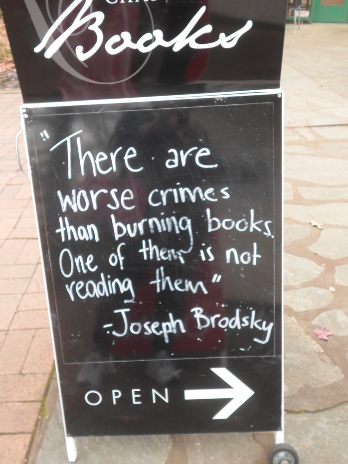 Sign Outside Book Shop