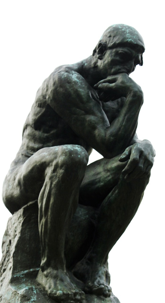 Statue of a thinker