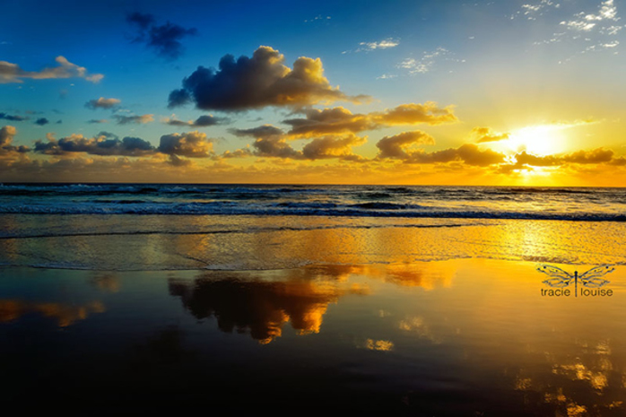 sunrise, Gold Coast, Surfers Paradise, beach, sun, ocean, clouds, morning,