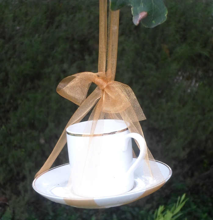 Tea Cup Tied With Ribbon