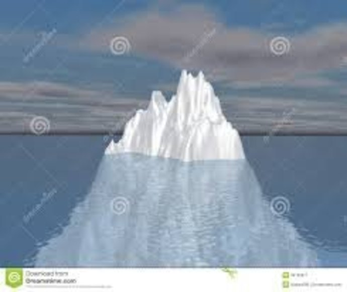 the unconscious mind, the tip of the iceberg