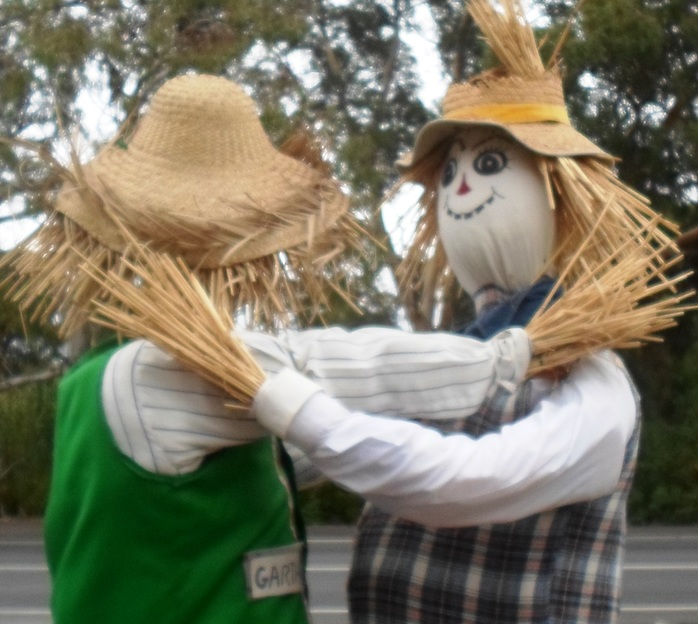 Two Scarecrows Hugging