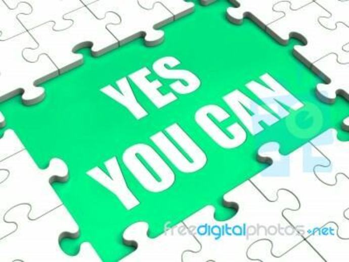 Yes You Can written in puzzle